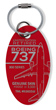 Genuine Southwest Airlines Boeing 737-300 PlaneTag - Tail # N365SW (Red)