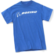 Boeing Signature Logo Men's T-Shirt (Royal Blue)