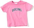 Boeing Logo Varsity Toddler T-Shirt -  Pink