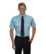 Van Heusen Aviator Shirt - Men's TALL SS - BLUE