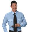Van Heusen Aviator Shirt - Men's Long Sleeve - BLUE