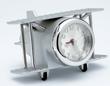Brushed Chrome Biplane Desk Clock
