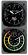 Classic Altimeter Clock / Airspeed Thermometer Set