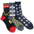 Taxiway, Runway, and Twin Jets Socks
