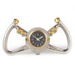 WWII USAF Yoke Table Clock - Polished Silver