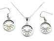 Small Attitude Necklace & Earrings - Sterling Silver