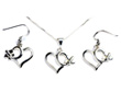 Low Wing Heart Necklace & Earring  - Sterling Silver