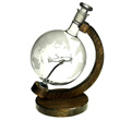 Etched Glass Globe Decanter with P-51 Mustang