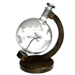 Etched Glass Globe Decanter with Sopwith Camel
