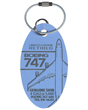Genuine China Airlines Boeing 747-400 Plane Tag - Tail #B-18201