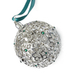 Jet Snowflake Ornament - Ball (Teal)