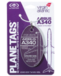Genuine Virgin Atlantic Airbus A340 Plane Tag - Tail #G-VEIL