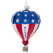 Patriotic Hot Air Balloon Glass Ornament