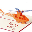 Helicopter Pop Up 3D Greeting Card
