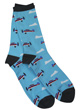 Whimsical Taildragger Airplane Socks