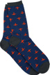 Airplane Socks Orange on Blue