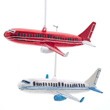 Glass Airline Ornaments - Set of Two (White and Red)