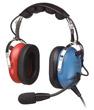 Pilot USA P-1151ACB Pilot Cadet Headset - Blue/Red