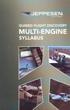 Jeppesen GFD Multi-Engine Syllabus