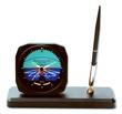 Horizon Desk Model Alarm Clock/Pen Set