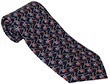 Helicopter Tie 100% Silk - Navy Blue