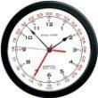 Zulu Time Wall Clock - Black on White