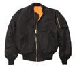 Alpha MA-1 Nylon Flight Jacket - Black