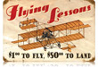Flying Lessons Vintage Metal Sign