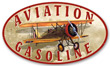 Aviation Gasoline Metal Sign