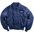 Alpha CWU-45P Nylon Flight Jacket - Replica Blue