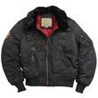 Alpha B-15 Injector Nylon Flight Jacket - Black Size 3XL