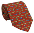 Airplane Tie 100% Silk - Red