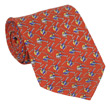 Helicopter Tie 100% Silk - Red
