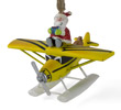 Sea Plane Ornament with Santa