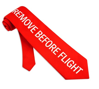 Remove Before Flight Silk Tie - MyPilotStore.com
