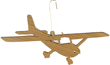Cessna Cherry Wood Airplane Ornament