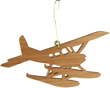 Seaplane Cherry Wood Airplane Ornament