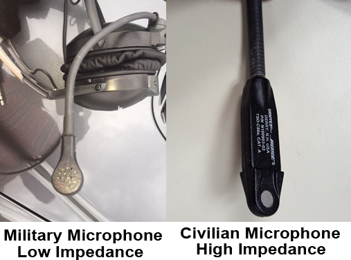 Low versus High Impedance Aviation Microphone