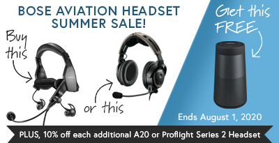 Bose A20 Aviation Headset (no Bluetooth) + Free Gift Special Offer